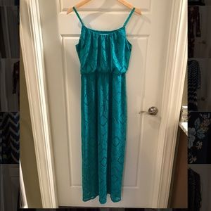 Green laced Maxi Dress Size M